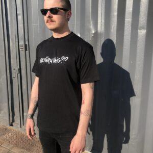 Melns unisex kokvilnas T-krekls